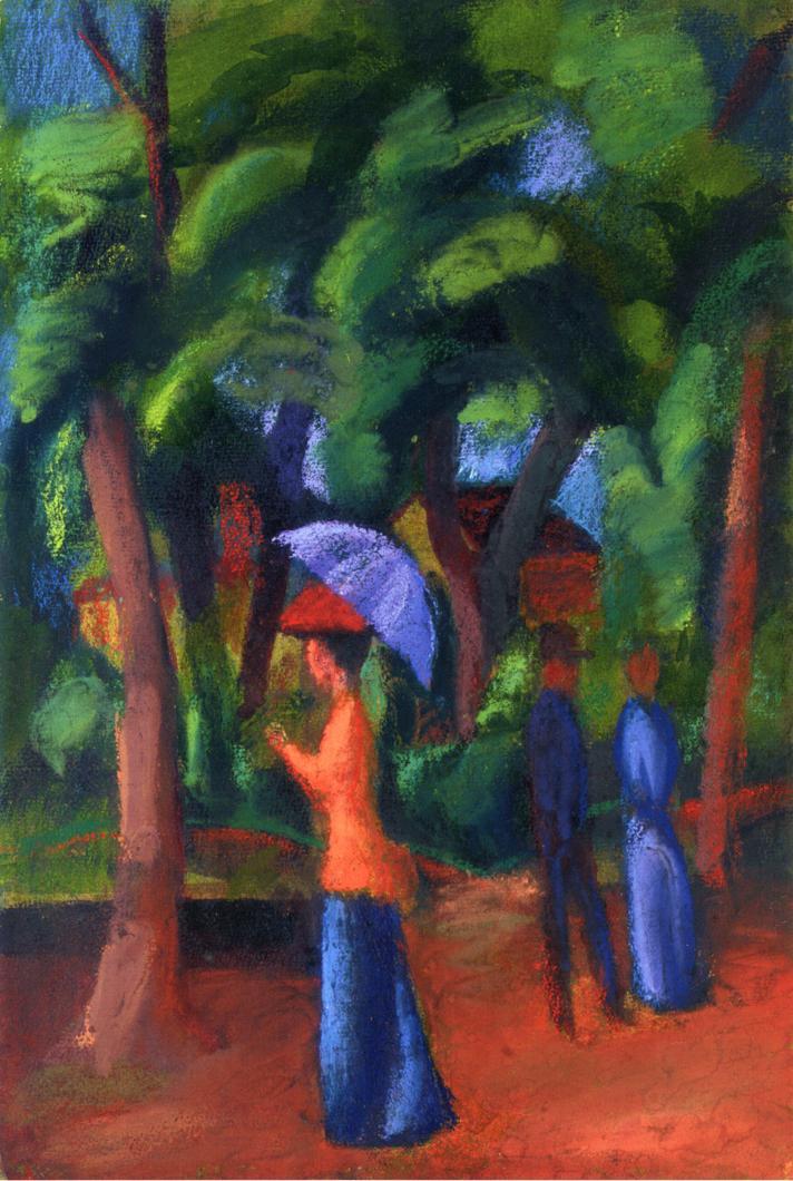 Walking in the park, 1914 Auguste Macke